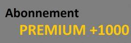 Abonnement mensuelle donnant droit à  1'000 crédits /an